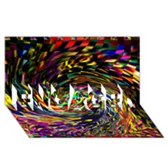 Abstract Art, Colorful, Texture Engaged 3d Greeting Card (8x4) by AnjaniArt