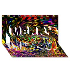 Abstract Art, Colorful, Texture Merry Xmas 3d Greeting Card (8x4) by AnjaniArt
