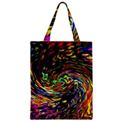 Abstract Art, Colorful, Texture Zipper Classic Tote Bag