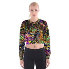 Abstract Art, Colorful, Texture Women s Cropped Sweatshirt