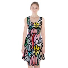 Abstract Doodle Racerback Midi Dress