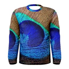 Blue Peacock Men s Long Sleeve Tee