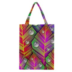 Bubbles Colorful Leaves Classic Tote Bag by AnjaniArt