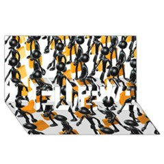 Business Men Marching Concept Believe 3d Greeting Card (8x4)