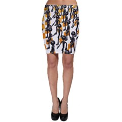 Business Men Marching Concept Bodycon Skirt