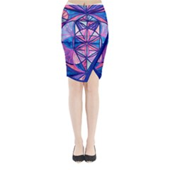 Feminine Interconnectedness - Midi Wrap Pencil Skirt by tealswan
