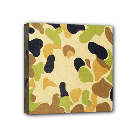 Camouflage Pattern Army Mini Canvas 4  X 4  by AnjaniArt