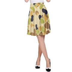 Camouflage Pattern Army A-line Skirt