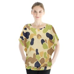 Camouflage Pattern Army Blouse