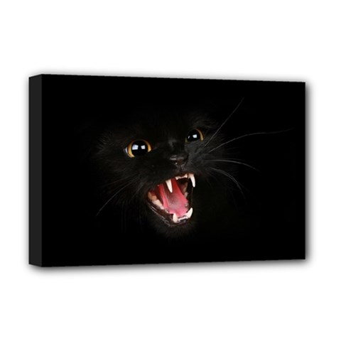 Cat Animal Cute Deluxe Canvas 18  X 12