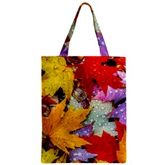 Coloorfull Leave Zipper Classic Tote Bag