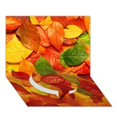 Colorful Fall Leaves Circle Bottom 3d Greeting Card (7x5) by AnjaniArt