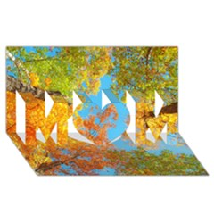 Colorful Leaves Sky Mom 3d Greeting Card (8x4) by AnjaniArt