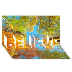 Colorful Leaves Sky Believe 3d Greeting Card (8x4)