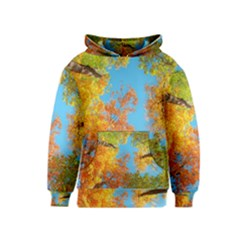 Colorful Leaves Sky Kids  Pullover Hoodie