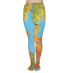 Colorful Leaves Sky Women s Tights by AnjaniArt