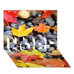 Colorful Leaves Stones Hope 3d Greeting Card (7x5) by AnjaniArt