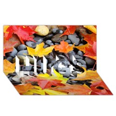 Colorful Leaves Stones Hugs 3d Greeting Card (8x4) by AnjaniArt
