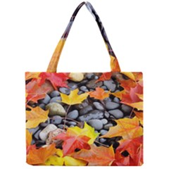 Colorful Leaves Stones Mini Tote Bag by AnjaniArt