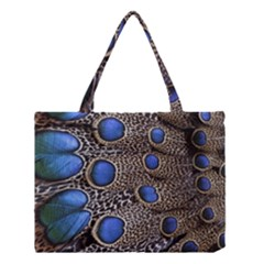 Feathers Peacock Light Medium Tote Bag by AnjaniArt