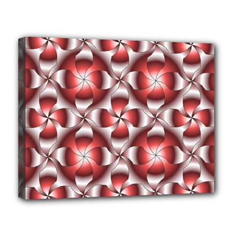 Floral Optical Illusion Canvas 14  X 11  by AnjaniArt