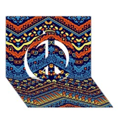 Cute Hand Drawn Ethnic Pattern Peace Sign 3d Greeting Card (7x5) by AnjaniArt