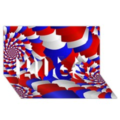 Happy Memorial Day Hugs 3d Greeting Card (8x4) by AnjaniArt