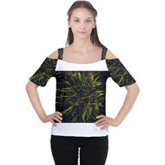 Magic Art Particle Texture Women s Cutout Shoulder Tee by AnjaniArt
