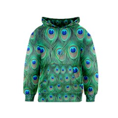 Peacock Feather Kids  Pullover Hoodie