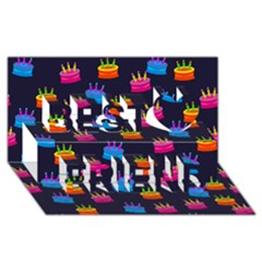 Seamless Tile Repeat Pattern Best Friends 3d Greeting Card (8x4)