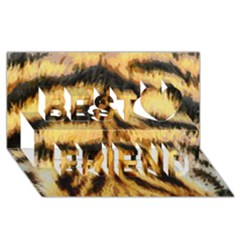 Tiger Fur Painting Best Friends 3d Greeting Card (8x4)