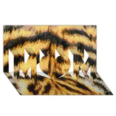 Tiger Fur Painting Mom 3d Greeting Card (8x4)