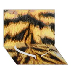 Tiger Fur Painting Heart Bottom 3d Greeting Card (7x5) by AnjaniArt