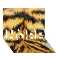 Tiger Fur Painting Hope 3d Greeting Card (7x5) by AnjaniArt