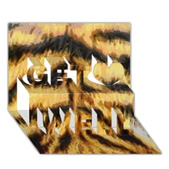 Tiger Fur Painting Get Well 3d Greeting Card (7x5) by AnjaniArt