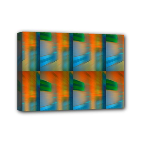 Wall Of Colour Duplication Mini Canvas 7  X 5  by AnjaniArt