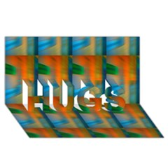 Wall Of Colour Duplication Hugs 3d Greeting Card (8x4)