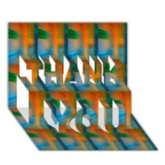 Wall Of Colour Duplication Thank You 3d Greeting Card (7x5) by AnjaniArt
