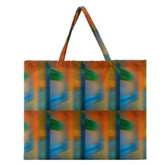 Wall Of Colour Duplication Zipper Large Tote Bag