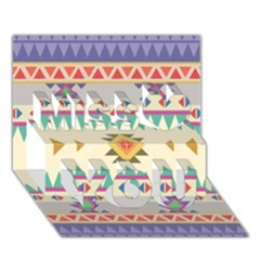 Your First Aztec Pattern Miss You 3d Greeting Card (7x5)