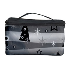 Gray Xmas Magic Cosmetic Storage Case by Valentinaart