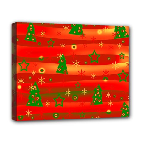 Xmas Magic Deluxe Canvas 20  X 16   by Valentinaart