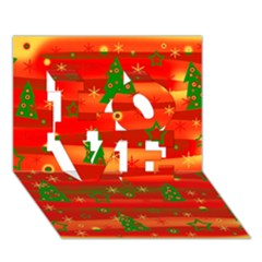 Xmas Magic Love 3d Greeting Card (7x5) by Valentinaart