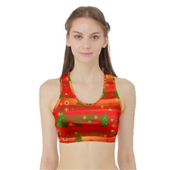 Xmas Magic Sports Bra With Border by Valentinaart