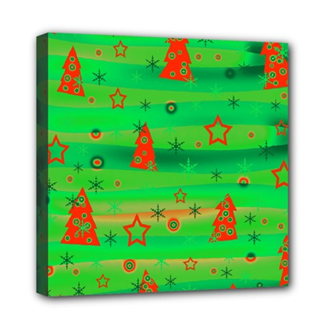 Green Xmas Magic Mini Canvas 8  X 8  by Valentinaart