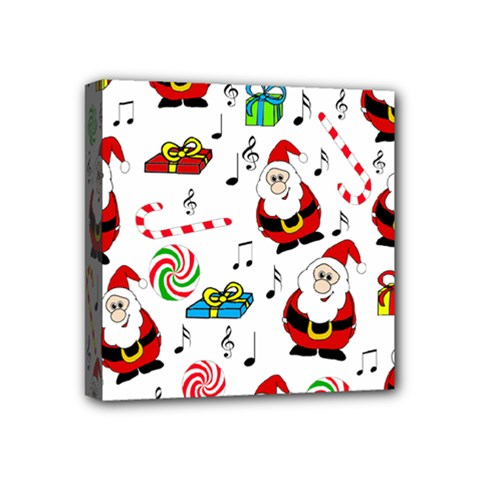 Xmas Song Mini Canvas 4  X 4  by Valentinaart