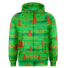 Xmas Magical Design Men s Zipper Hoodie