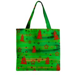 Xmas Magical Design Zipper Grocery Tote Bag by Valentinaart