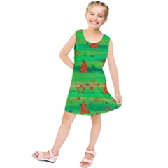 Xmas Magical Design Kids  Tunic Dress by Valentinaart