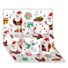 Xmas Song Miss You 3d Greeting Card (7x5) by Valentinaart
